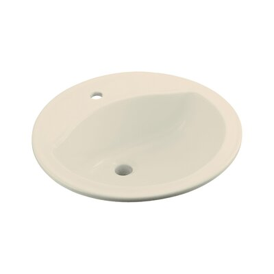 Sterling by Kohler Modesto Round Self-Rimming Sink with Single Faucet Hole Drilling - Finish: Almond