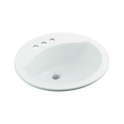 Modesto Ceramic Circular Drop-In Bathroom Sink Finish: White