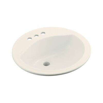 Modesto Self Rimming Bathroom Sink 4 Finish: Biscuit