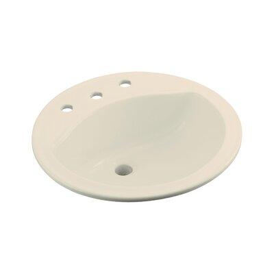 Modesto Ceramic Circular Drop-In Bathroom Sink Finish: Almond