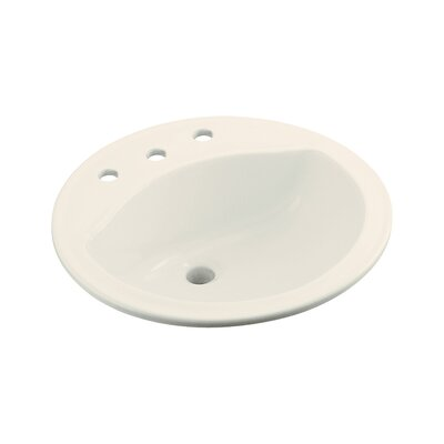 """Sterling by Kohler Modesto Round Self- rimming Sink with 8"""" Centers - Finish: Biscuit"""