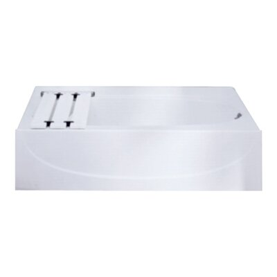 Acclaim 60 x 31 Soaking Bathtub Finish: White