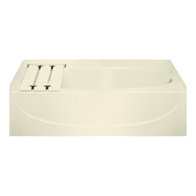 Acclaim 60 x 31 Soaking Bathtub Finish: Almond
