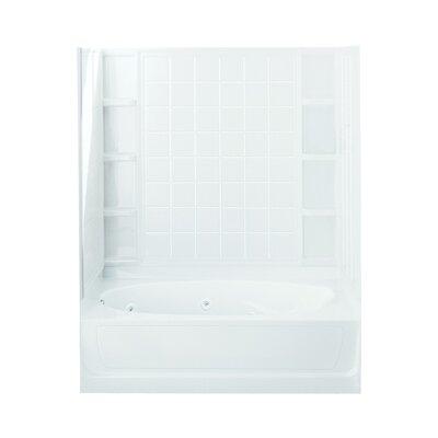 Ensemble 72 x 36 Whirlpool Bathtub Finish: White