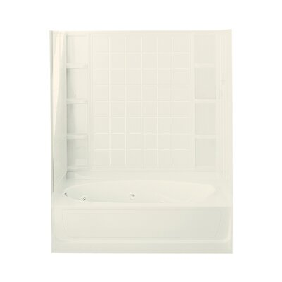 Ensemble 72 x 36 Whirlpool Bathtub Finish: Biscuit