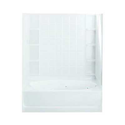 Ensemble 72 x 36 Whirlpool Bathtub Finish: White