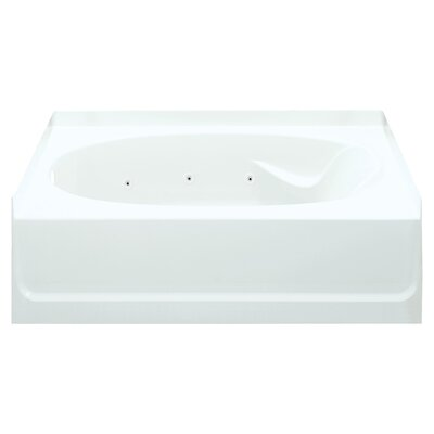 Ensemble 60 x 36 Whirlpool Bathtub Finish: White