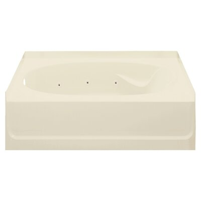 Ensemble 60 x 36 Whirlpool Bathtub Finish: Almond