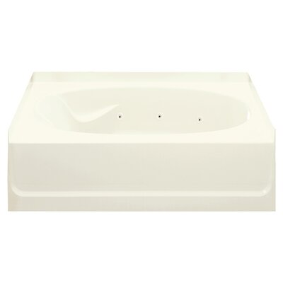 Ensemble 60 x 36 Whirlpool Bathtub Finish: Biscuit