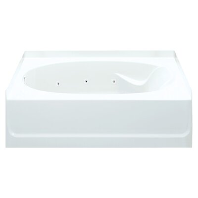 Ensemble 60 x 42 Whirlpool Bathtub Finish: White