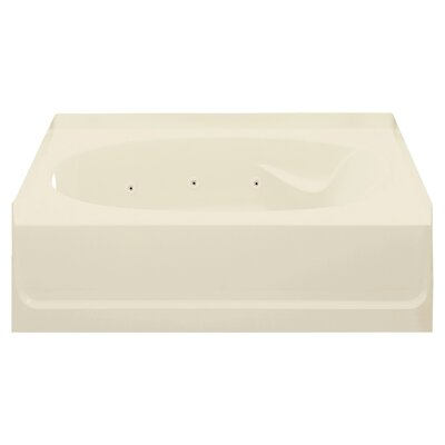 Ensemble 60 x 42 Whirlpool Bathtub Finish: Almond