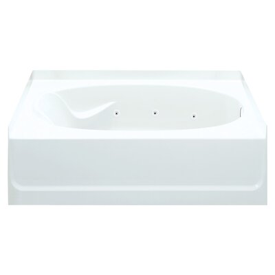 Ensemble 45.5 x 42 Whirlpool Bathtub Finish: White