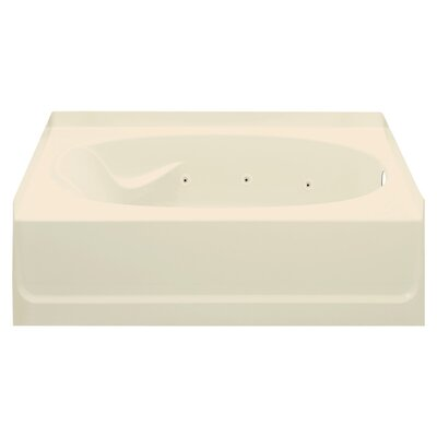 Ensemble 45.5 x 42 Whirlpool Bathtub Finish: Almond