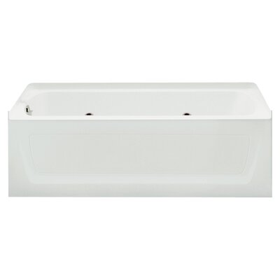 Ensemble 60 x 32 Whirlpool Bathtub Finish: White