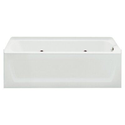Ensemble 35.5 x 32 Whirlpool Bathtub Finish: White