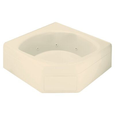 Ensemble 65 x 60 Soaking Bathtub Finish: Almond