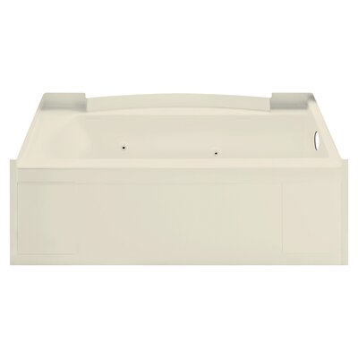 Accord 32 x 13.3 Right Hand Whirlpool Bathtub Finish: Almond