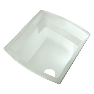 Latitude 25 x 22 Single Bowl Utility Sink Finish: White
