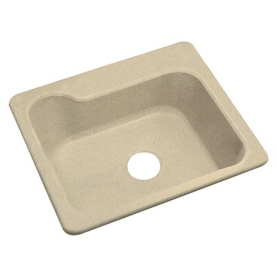 Maxeen 31.25 x 22 Single Bowl Top Mount Kitchen Sink Finish: Almond Granite