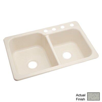 Maxeen 33 x 22 Double Bowl Kitchen Sink Finish: Grey Granite