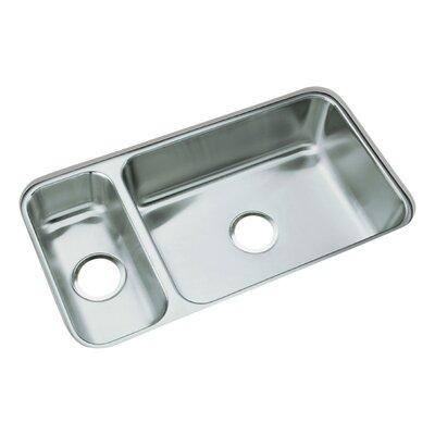 31.75 x 17.5 No Holes Undermount Double Bowl Kitchen Sink