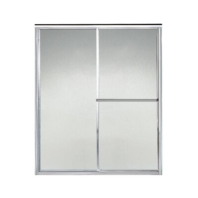 """Sterling by Kohler Deluxe 57.5"""" W x 65.5"""" H Bypass Shower Door - Finish: Silver"""