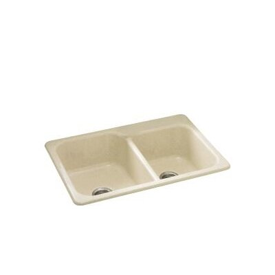 Maxeen 33 x 22 Self-Rimming Double Bowl Kitchen Sink Finish: Almond Granite