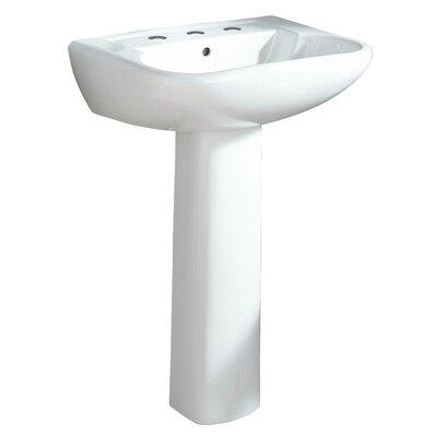 Southhampton Ceramic 24 Pedestal Bathroom Sink Finish: White