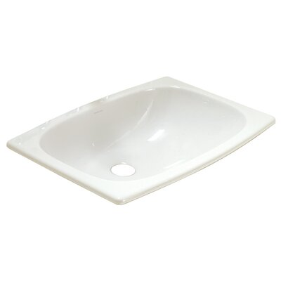 Stinson Ceramic Rectangular Drop-In Bathroom Sink with Overflow Sink Finish: White