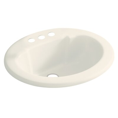 Vikrell Centerset Self Rimming Bathroom Sink 4 Sink Finish: Biscuit