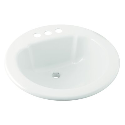 Vikrell Circular Drop-In Bathroom Sink Sink Finish: White