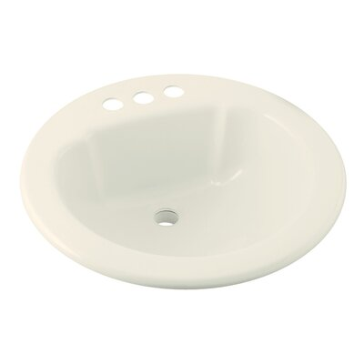 Vikrell Circular Drop-In Bathroom Sink Sink Finish: Biscuit