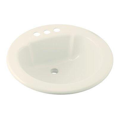 Vikrell Circular Drop-In Bathroom Sink Sink Finish: Biscuit