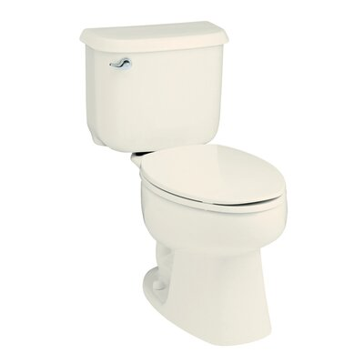 Windham 1.6 GPF Round Front 2 Piece Toilet Finish: Biscuit
