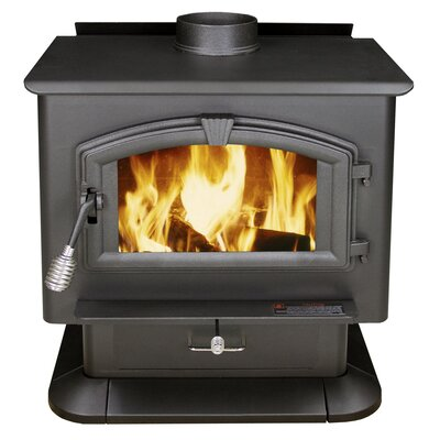 Extra Large EPA Certified Wood Stove in Black