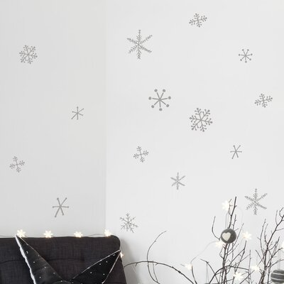 Christmas 2013 Snowflake Window Sticker Color: White