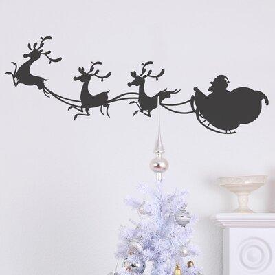 Christmas Sleigh Wall Decal Color: Dark Grey