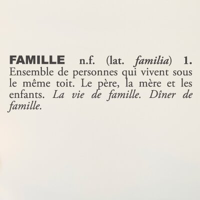 Blabla Famille Wall Decal Color: Charcoal T3116-FR-R73