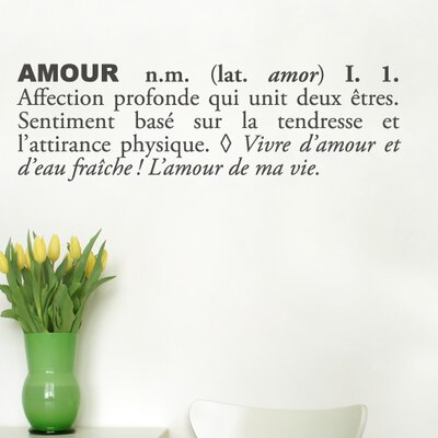 Blabla Amour Wall Decal Color: Charcoal T3115-FR-R73