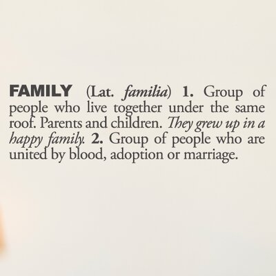 Blabla Family Wall Decal Color: Charcoal T3116-EN-R73