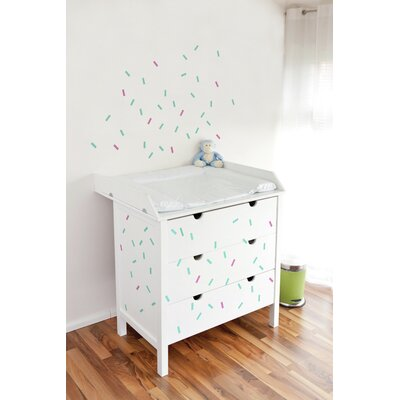 Forme Celebration Wall Decal Color: Blue And Pink