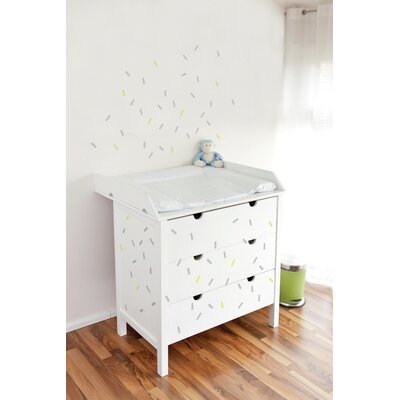 Forme Celebration Wall Decal Color: Gray And Yellow
