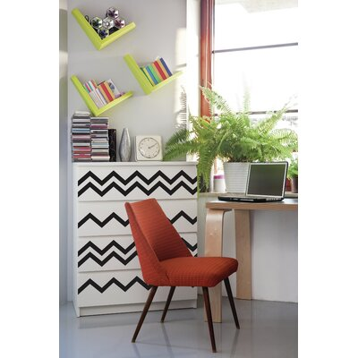 Forme Chevrons Wall Decal Color: Black