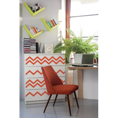 Forme Chevrons Wall Decal Color: Orange