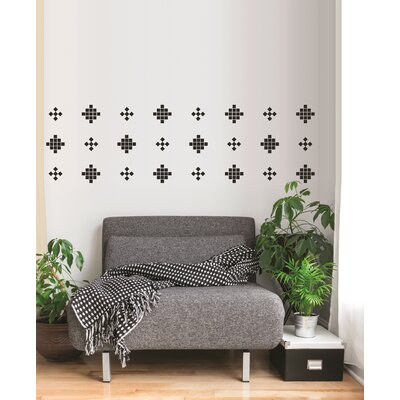 Forme Crazy Square Wall Decal Color: Black