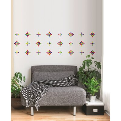 Forme Crazy Square Wall Decal Color: Multi