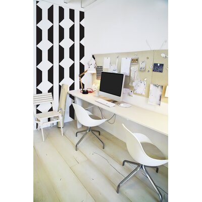 Forme Geomania Wall Mural Color: Black