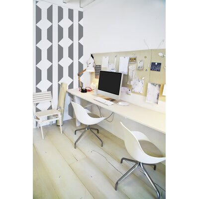 Forme Geomania Wall Mural Color: Gray