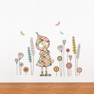 Ludo Violette's Garden Wall Decal