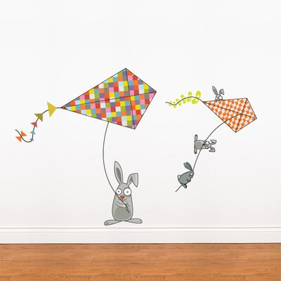 Ludo Bunnies and Kites Wall Decal